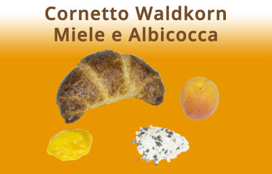 Cornetto Waldkorn Miele e Albicocca