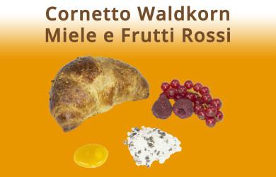 Cornetto Waldkorn Miele e Frutti Rossi